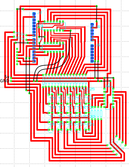 The layout of the PCB