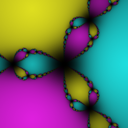 A smoother fractal with very dark spots
